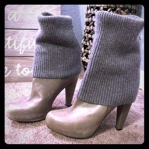Loeffler Randall sweater top boots